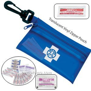 Take-a-long First Aid Kit #2 W/ Ointment, Ibuprofen & Vinyl Pouch