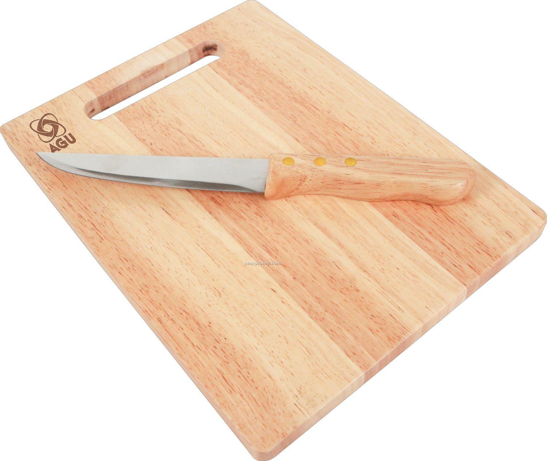 Rubberwood Cutting Board Amp Utility Knife China Wholesale