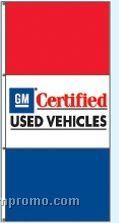 Stock Single Face Dealer Rotator Drape Flags - Gm Certified