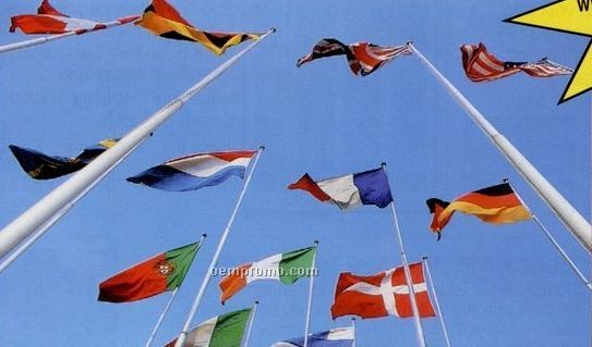 35' Architectural Series Outdoor External Halyard Flagpoles Satin