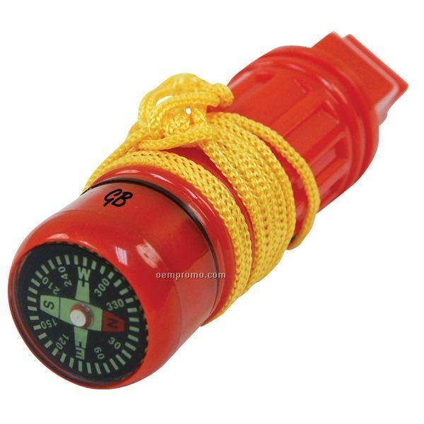 5 Function Survival Tool Whistle W/ Lanyard