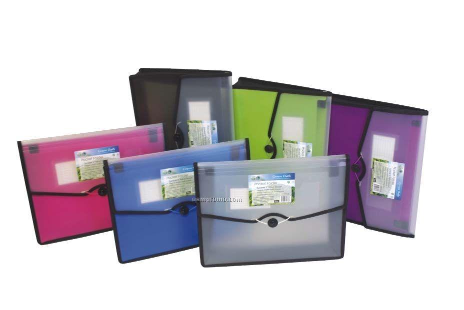 "Green Pocket Folder With 3"" Expansion"