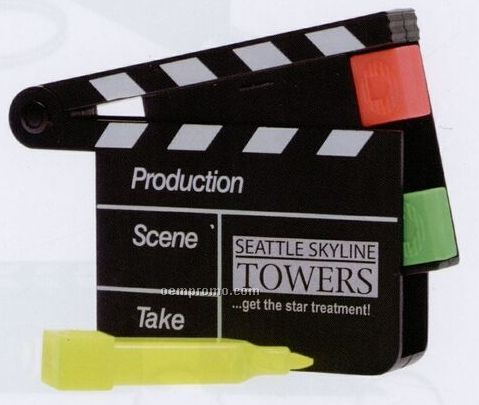Movie Slate Highlighter (Factory Direct 8-10 Weeks)