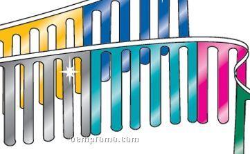 30' Metallic Fingerstone W/ 18 Panels Per String - Red/Silver/Blue