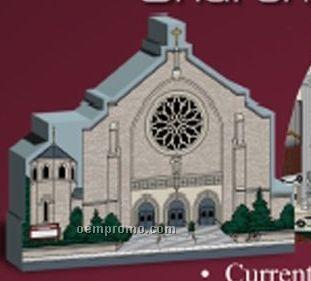 35 Square Inch Wooden Replica Church