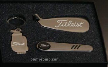 Golf Series Golf Bag Key Chain/ Multi Function Tool/ Luggage Tag Gift Set