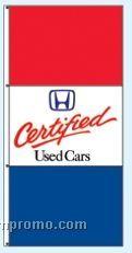 Stock Single Face Dealer Rotator Drape Flags - Certified Used Cars