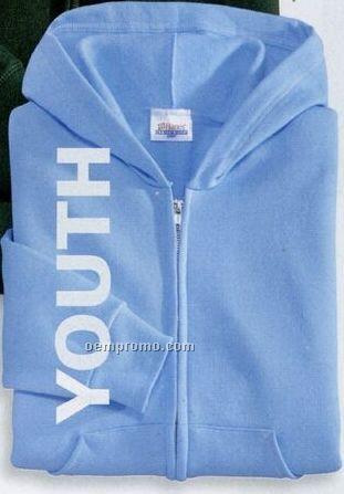 Hanes Youth Comfortblend Full-zip Hooded Sweatshirt (Xs-xl)
