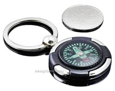 Key Ring With Compass