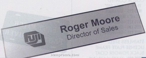 "Coated Metals Laser Frost Name Plate / 8 1/4""X2""X0.20""/ Silver"