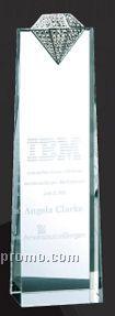 Optical Crystal Luxury Diamond Tower Award - Medium