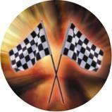 "Photo Mylar Insert - 2"" Checkered Flags"
