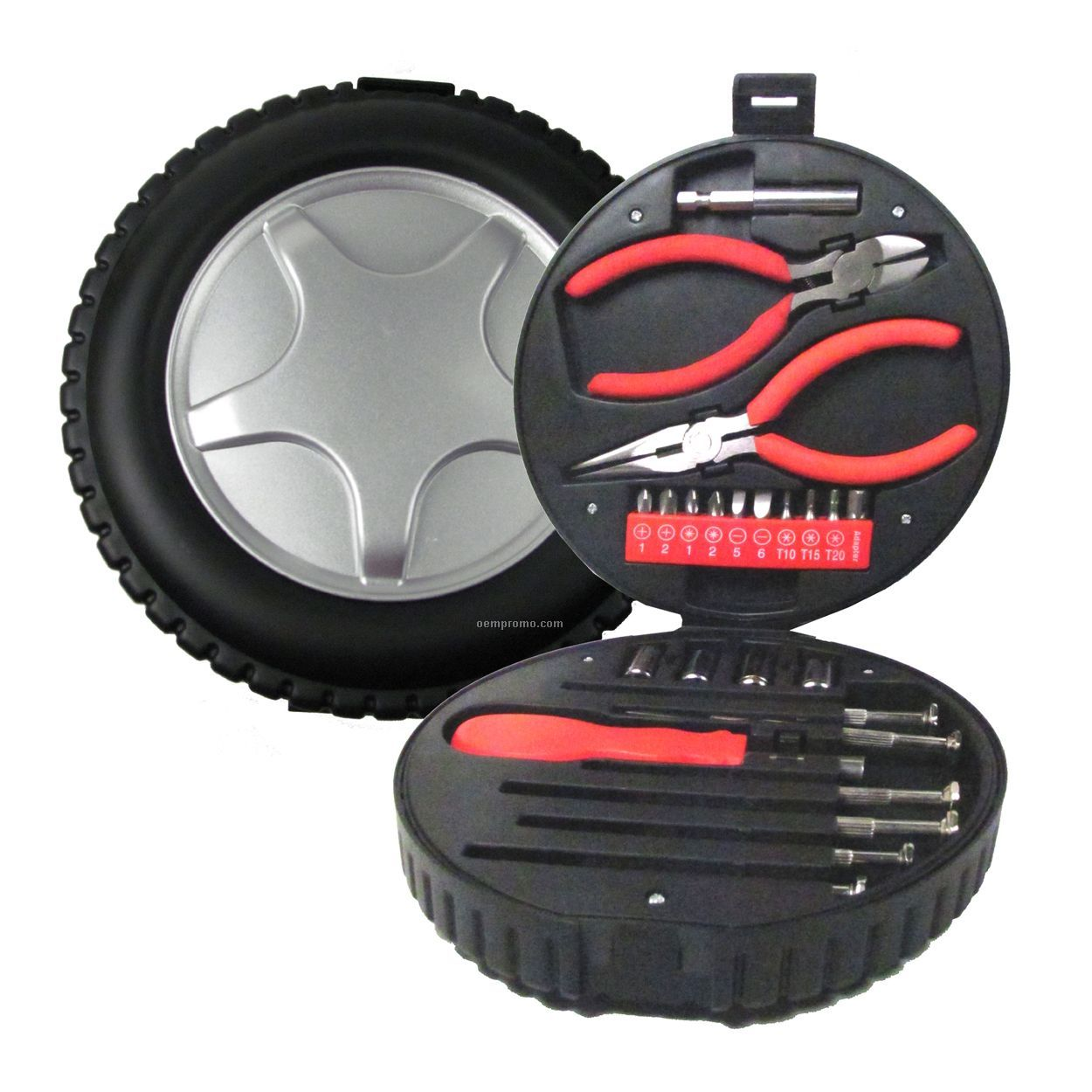 24pc Tool Kit In A Tire Box