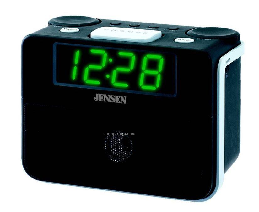AM/ FM Dual Alarm Auto Time Set Clock Radio