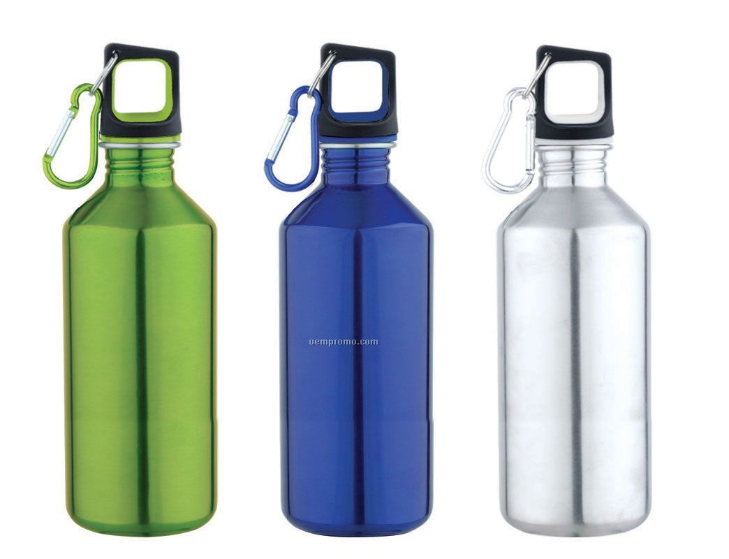 Stainless Steel Single Wall 20 Oz. Cube Lid Sport Bottle