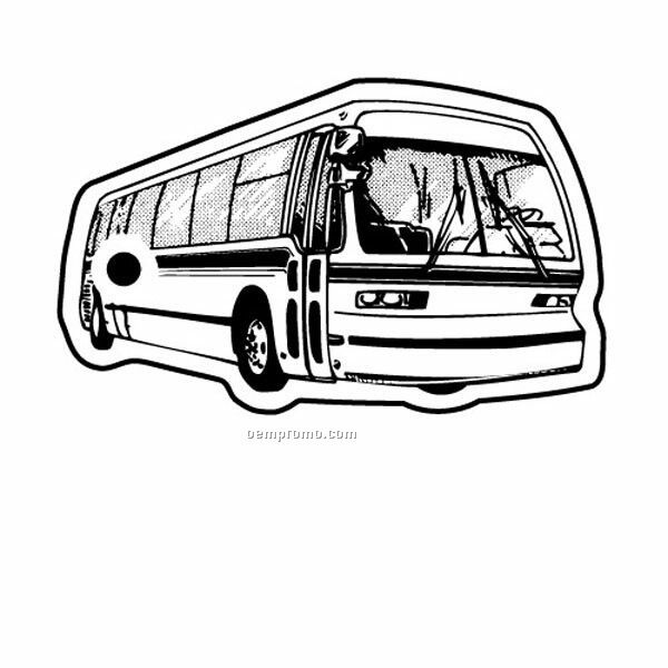 Stock Shape Collection City Bus 2 Key Tag