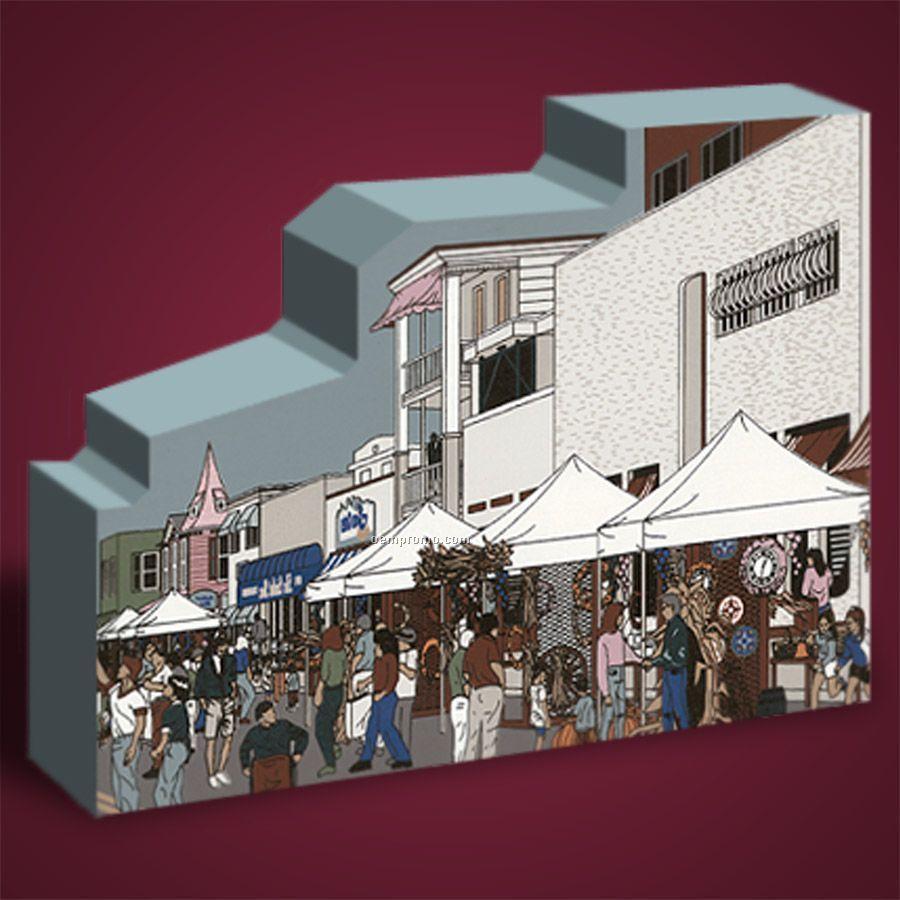 35 Square Inch Fairs Wooden Replica