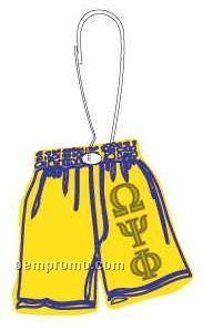 Omega Psi Phi Fraternity Shorts Zipper Pull