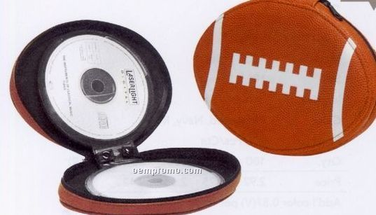 "7-1/2""X5-1/2"" Football 24 Pcs. CD/DVD Holder"