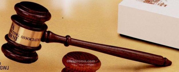 American Walnut Judge's Gavel