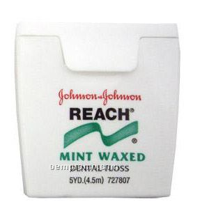 Johnson & Johnson Reach Mint Waxed Dental Floss - Imprinted