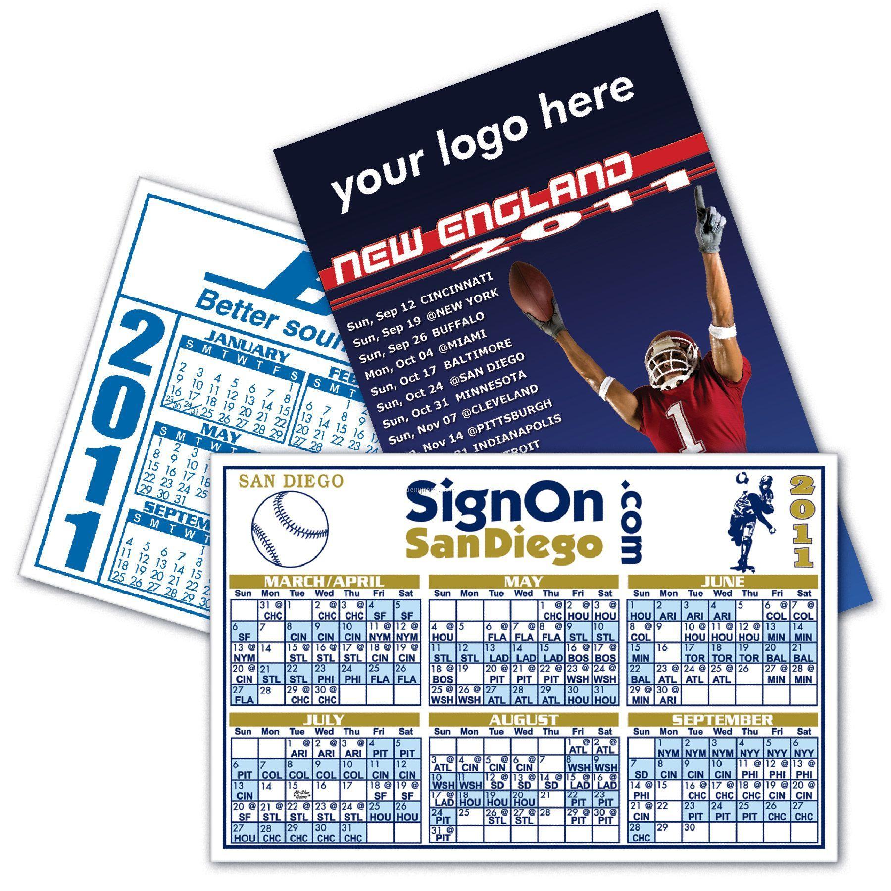 Large Rectangle Calendar Magnet