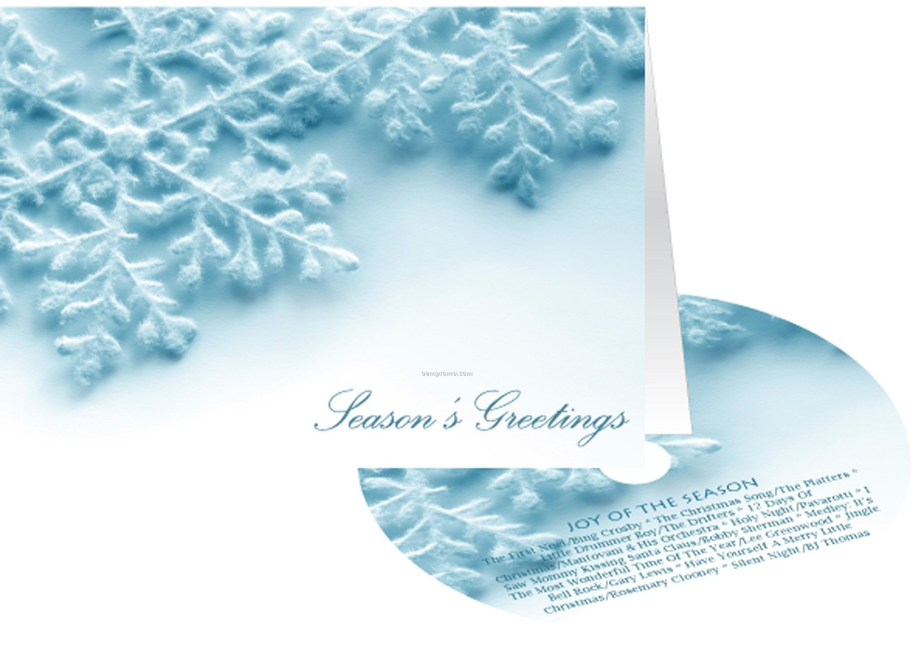 Snowflakes seasons greetings holiday card with matching cdchina snowflakes seasons greetings holiday card with matching cd kristyandbryce Gallery