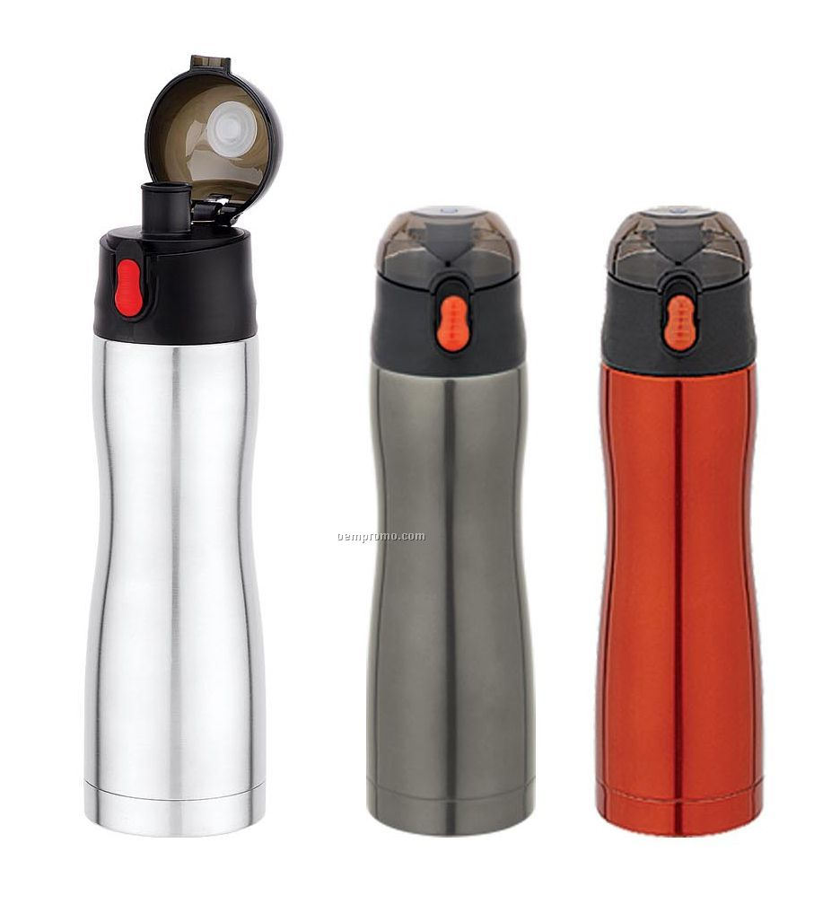 Sport Thermal Bottle - Double Wall 16 Oz. Contoured Stainless Steel Bottle