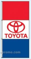 Stock Single Face Dealer Rotator Drape Flags - Toyota
