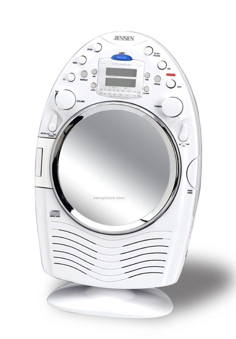 AM/ FM Stereo Shower Radio & CD Player W/ Fog Resistant ...