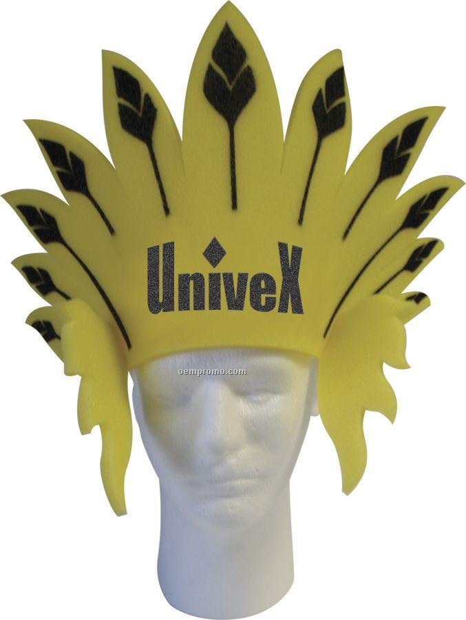 Adjustable Band Hat - Feather Headdress