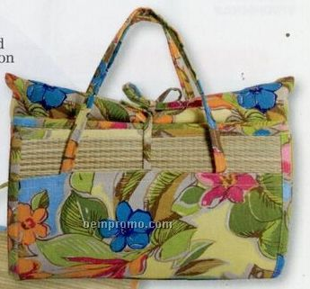 Cotton/Seagrass Pillow W/ Bag