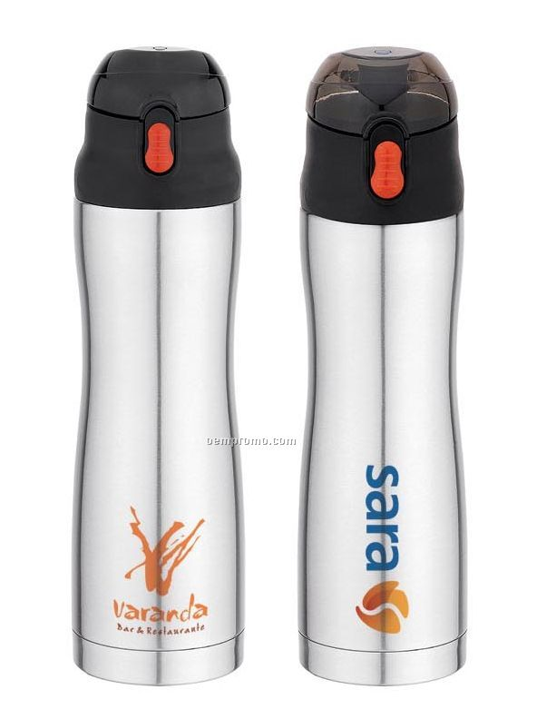 Sport Thermal Bottle - Double Wall 20 Oz. Contoured Stainless Steel Bottle