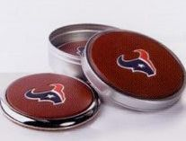 Signature Series Silver Rimmed Coasters-set Of 2