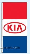 Stock Single Face Dealer Rotator Drape Flags - Kia