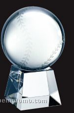 X-large Optical Crystal Sport Ball W/ Short Base Award
