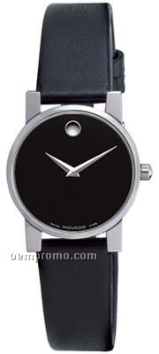 Ladies' Movado Museum Moderna Stainless Steel Strap Watch