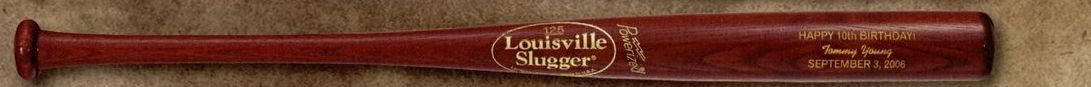 Louisville Slugger Youth Personalized Wood Bat (Hornsby/ Gold Imprint)
