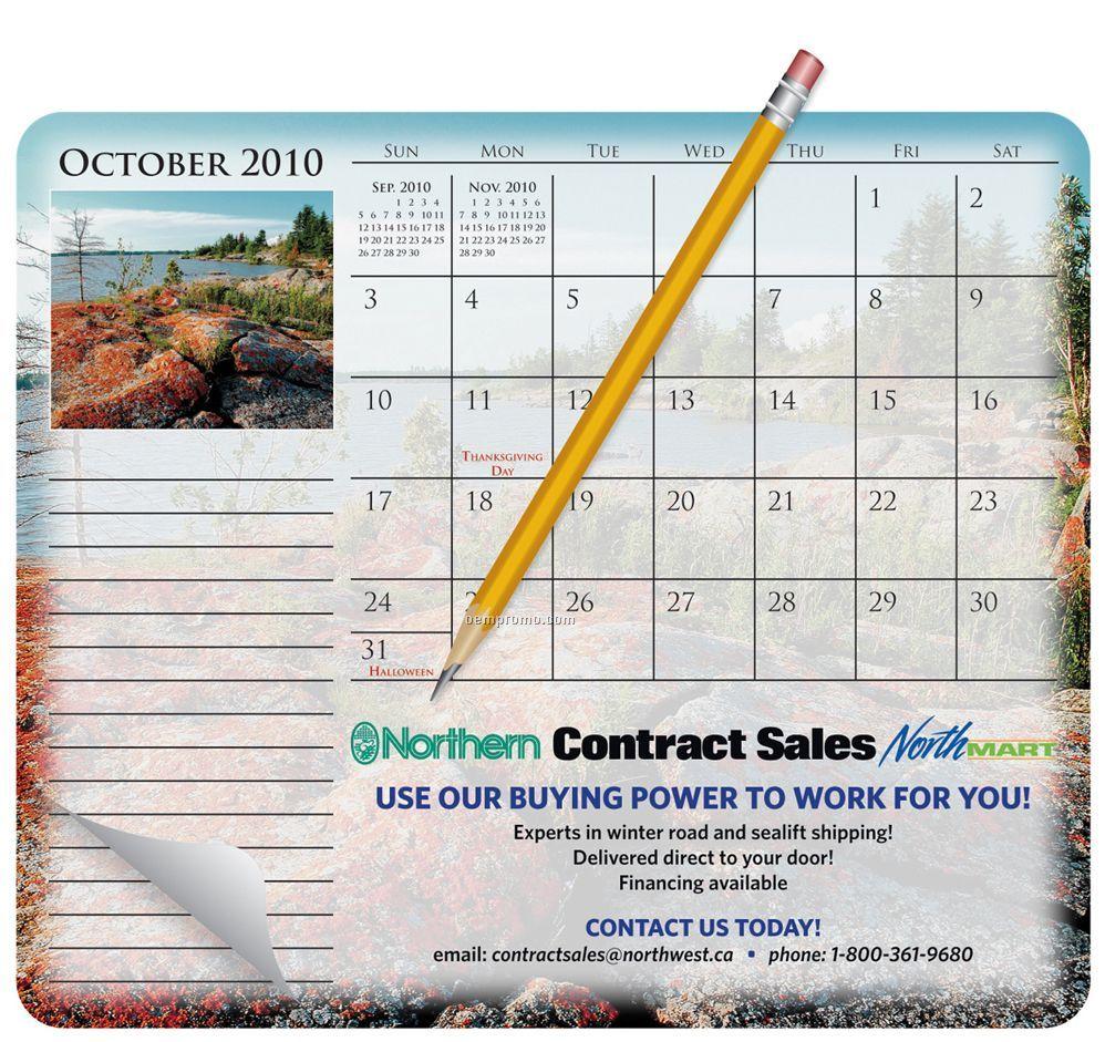 Mousepaper Calendar 12-month Paper Mouse Pad
