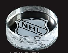 Optical Crystal Hockey Puck Award