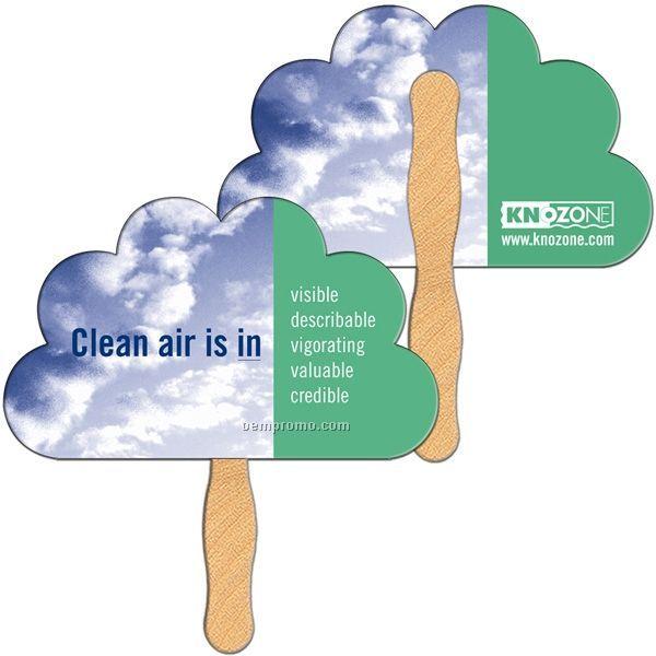 Peacock/ Cloud Stock Shape Fan