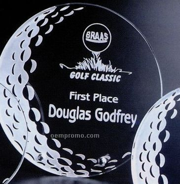 "Sports Gallery Crystal Burnhaven Golf Award (7"")"