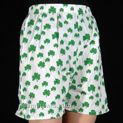 White Boxer Shorts With Allover Print
