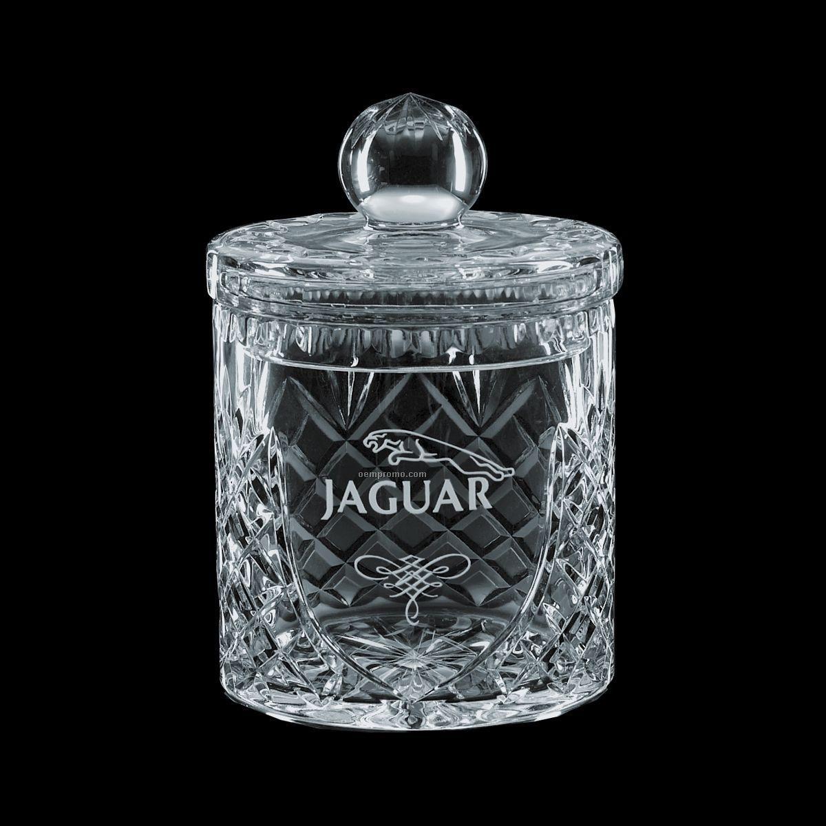 Metal Kitchen Canisters 12 Oz Small Medallion Crystal Barrel Jar Amp Lid China