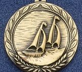 "2.5"" Stock Cast Medallion (Boat Sailing)"