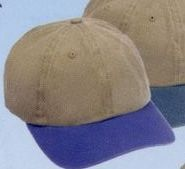 2 Tone Color Pigment Dyed Garment Washed 6-panel Cap