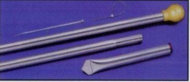 9' Aluminum Silver Mill Finish Display Poles