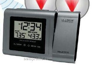 Atomic Time Projection Alarm Clock W/ Temperature