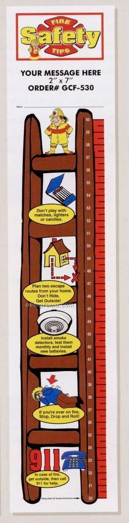 Fire Safety Tips - Stock Design Plastic Growth Chart