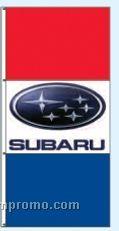 Stock Single Face Dealer Rotator Drape Flags - Subaru